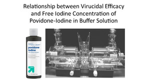 Relationship between Virucidal Iodine Concentration of Povidone-Iodine in Buffer Solution