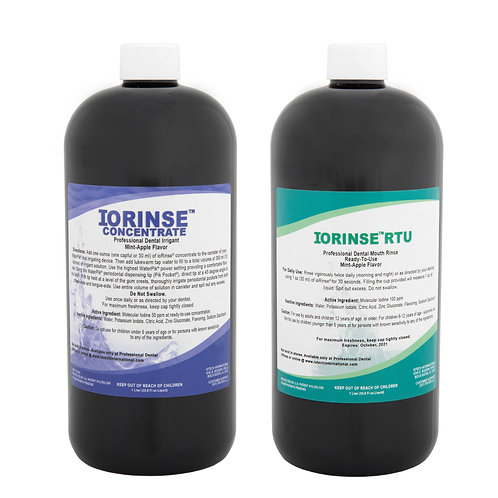 ioRinse™ RTU & Concentrate 12 (1 liter bottles) Mixed Case - Mint Apple Mix