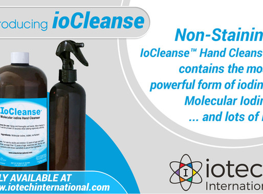 New Product Announcement: ioCleanse™ Hand Cleanser