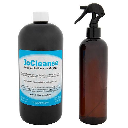 ioCleanse™ Hand Cleanser - 1 liter bottle plus sprayer