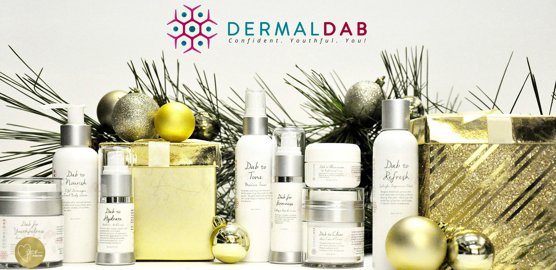 About the Project (December 2016):  As the Social Media Manager for Kayla Creative Marketing & Design Agency, I worked with clients within social media to build their visual brand precence! A holiday themed Social Media campaign was curated for Dermal Dab, a skin care line based in Virginia. The concept was staging their products throughout a Christmas theme for their social media channels. The mission was to gain brand awareness in a fun and festive way! This campaign also won the 2017 SIA Summit International Awards, Summit Creative Award for a Social Media Campaign by an agency!  Stay tuned for more photos from this campaign and and mini branding refresh!