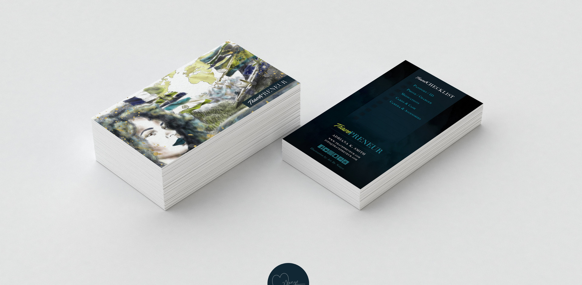 Traveprenuer Business Card Design