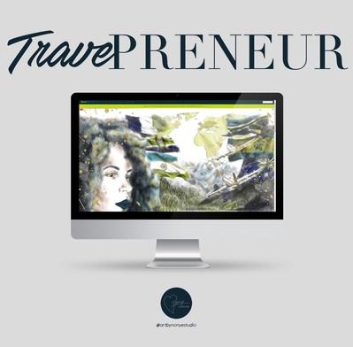 Traveprenuer Custom Website Homepage Illustration