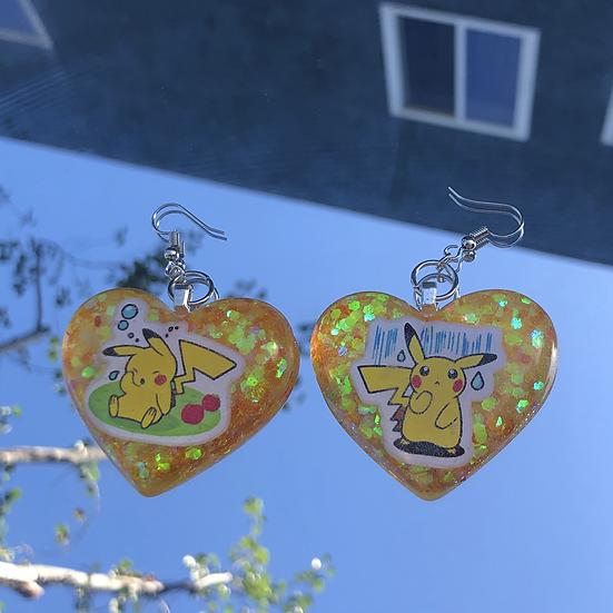 Pikachu Heart Earrings
