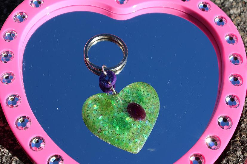 Green Heart Keychain!