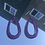 Thumbnail: Purple Sparkly Oval Hoops