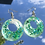 Thumbnail: Green & Blue Star Glitter Hoops