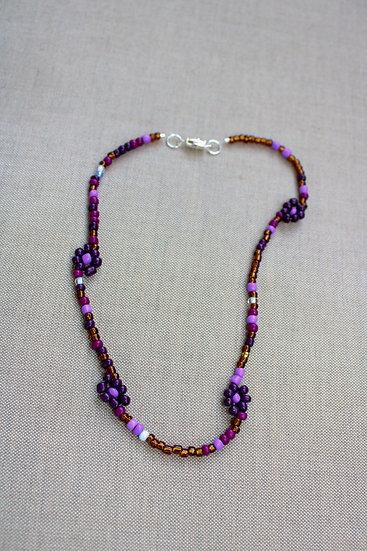 Purple Daisy Choker