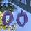 Thumbnail: Purple Sparkly Abstract Earrings
