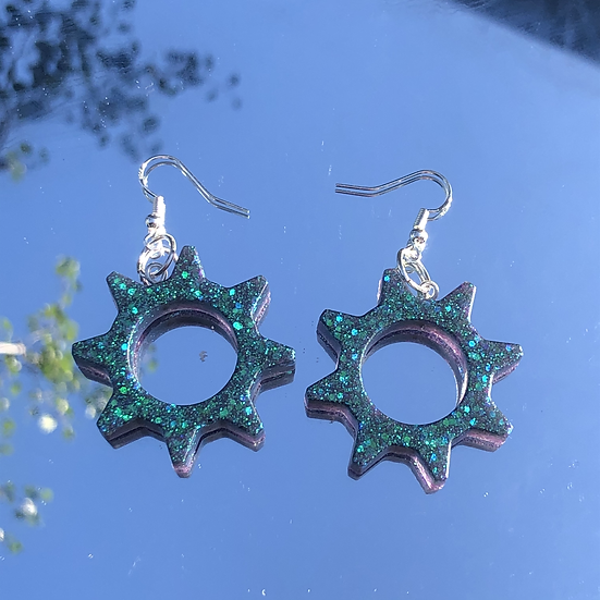 Green Sparkly Gears