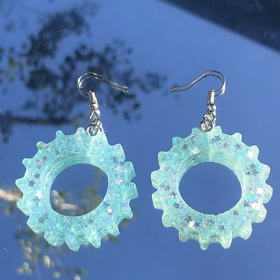 Light Blue Sparkly Gears
