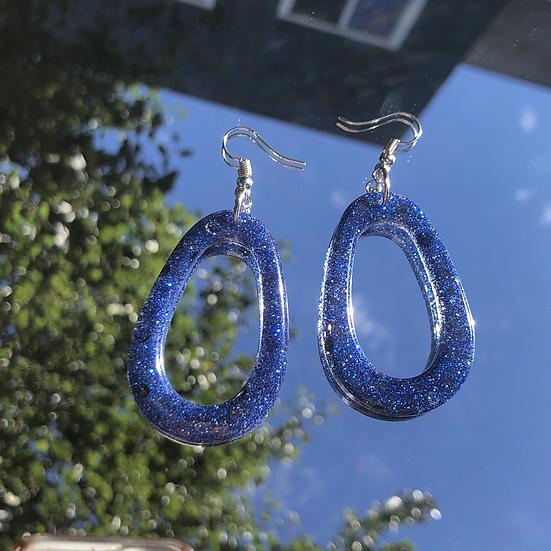 Dark Blue Oval Hoops