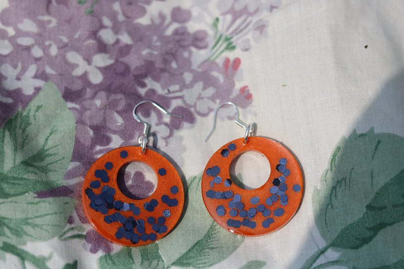 Orange Halloween Hoops