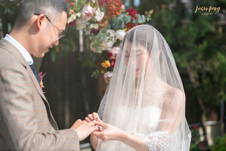 Wedding Photography Videography Bride and Groom exchange Rings
