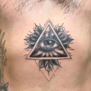 All Seeing Eye Blackwork