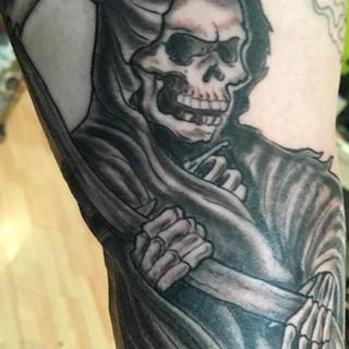 Grim reaper black and Grey