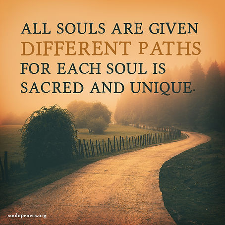 All souls given different paths.