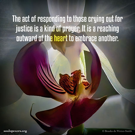 Crying out for justice as prayer.