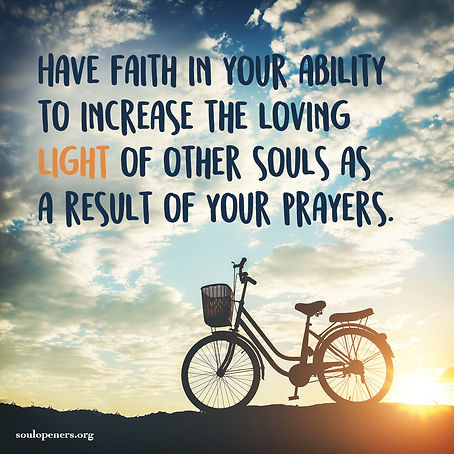 Prayer increases light of others.