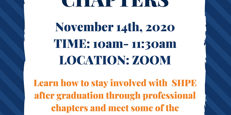 Paving your Future with Professional Chapters