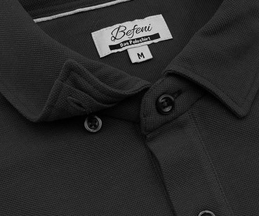 Befeni Poloshirt Black / Schwarz