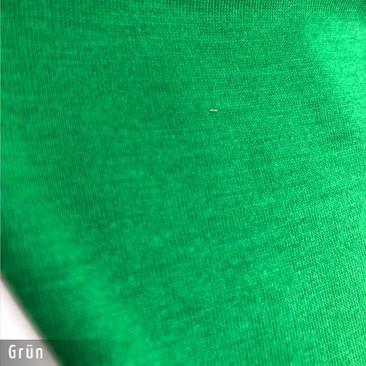 Gesichtsmaske - Baumwollmaske im T-Shirt Stoff - Gruen Stoff