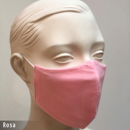 Gesichtsmaske - Baumwollmaske im T-Shirt Stoff - Rosa