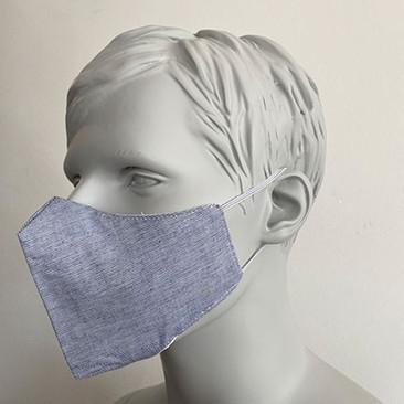 Gesichtsmaske Filter Nasenbuegel Jeansbl