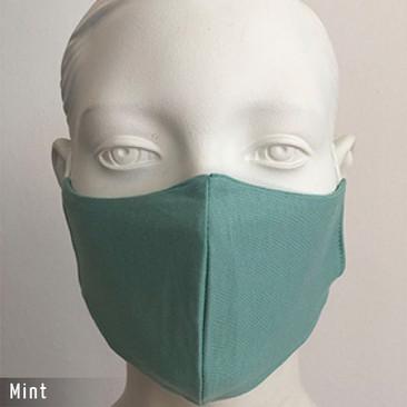 Gesichtsmaske - Baumwollmaske im T-Shirt Stoff - Mint