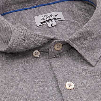 Befeni Poloshirt Mountain Grey / Grau