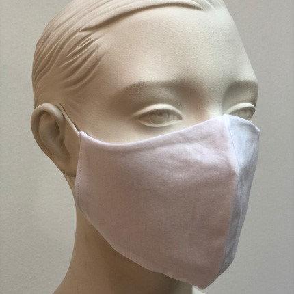 Stoffmaske im T-Shirt Stoff - Weiß