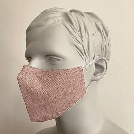 Gesichtsmaske Filter Nasenbuegel Rotbrau
