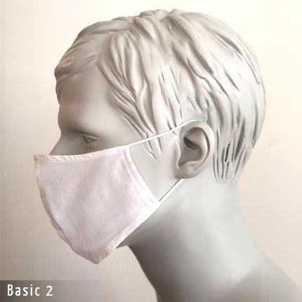 Gesichtsmaste - Baumwollmaske Basic 2 Seite