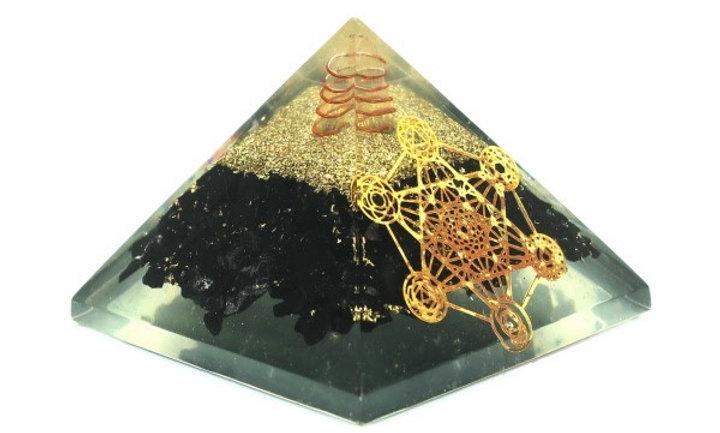 Black Tourmaline Metatron Organite Pyramid
