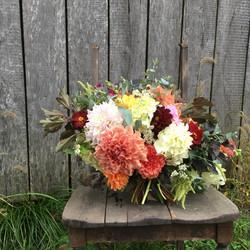Last dahlia bouquet 2018
