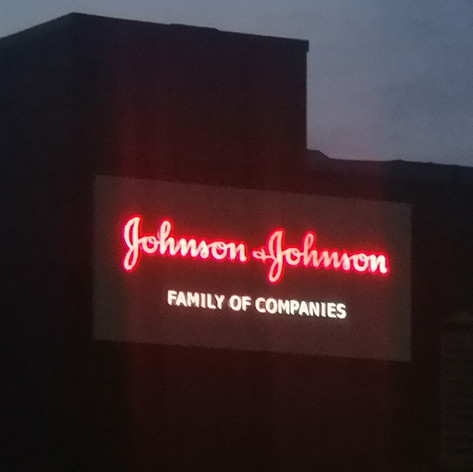 Johnson & Johnson Building - Lit sign