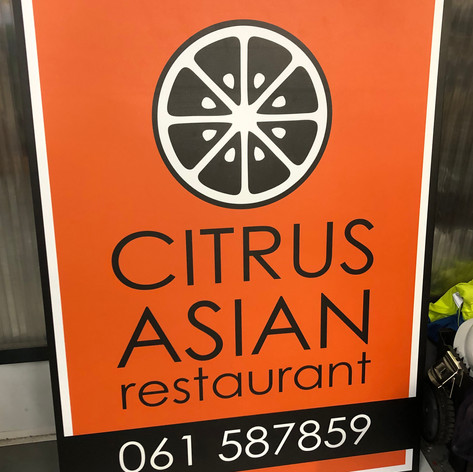Citrus Restaurant Logo and Sign