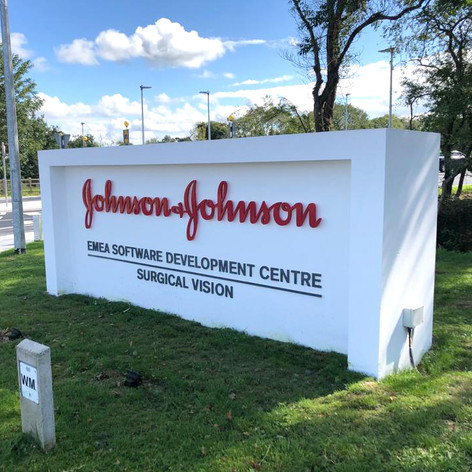 Johnson & Johnson EMEA Centre sign