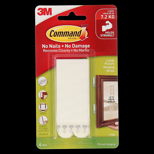 Command Large Picture Hanging Strips 4PK