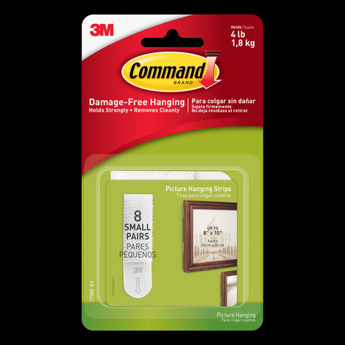 Command Small Picture Hanging Strips 8pk