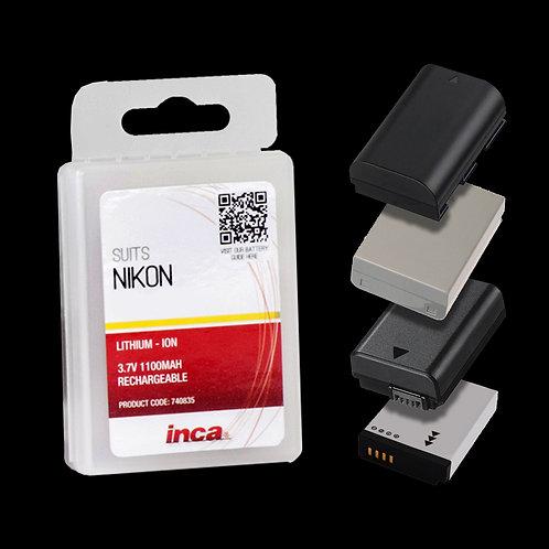 Inca Nikon Rechargeable Camera Battery