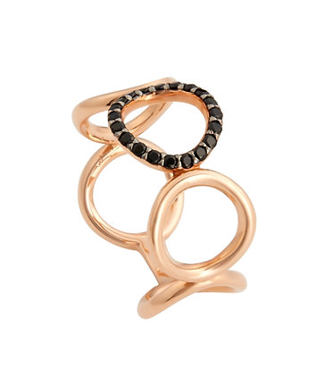 rose gold circle ring