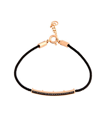 rose gold black diamond silk bracelet