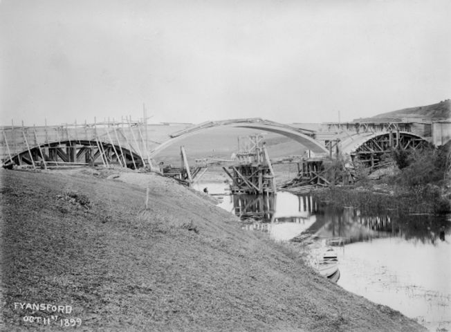 3 Construction of Fyansford bridge 1899