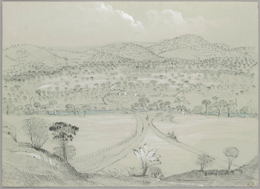1847 sketch of Fyansford and the Moorabo