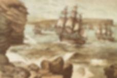 The_First_Fleet_entering_Port_Jackson,_J