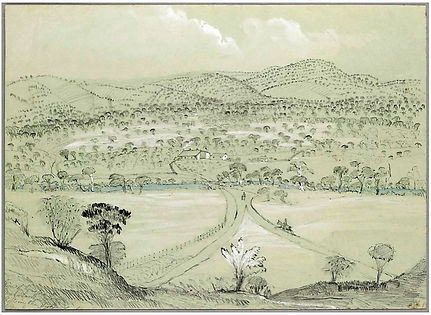 1847 View of Fyan's Ford on the Marabool