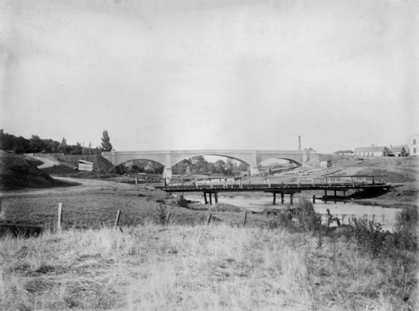5 Fyansford Bridge, Geelong Ca 1900 Imag