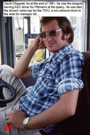21 1981 AEC driver David Chappell (sic).