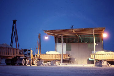 3 1981 48a Early morning 2-truck tip at